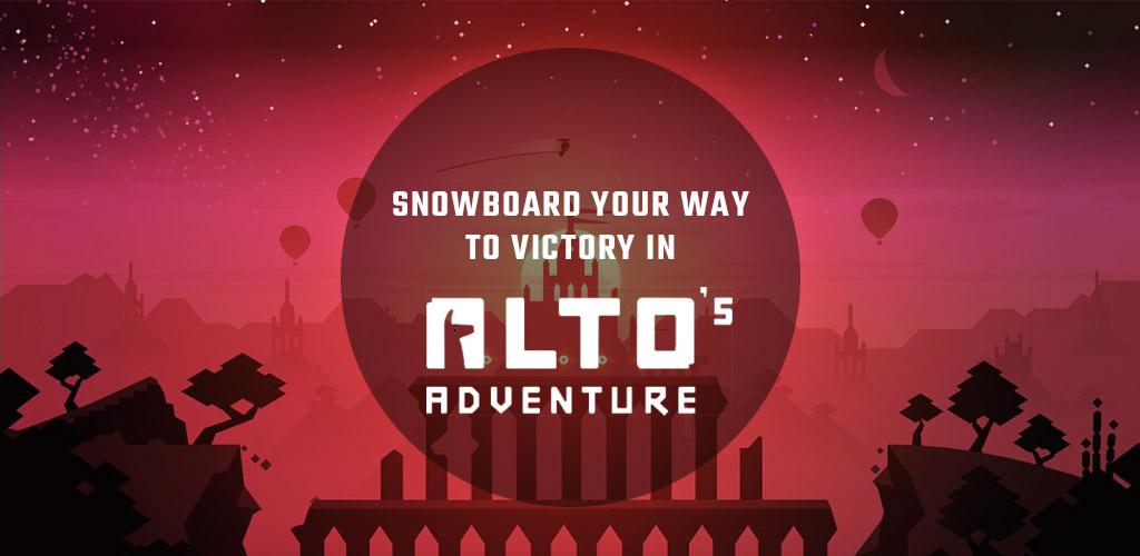 Snowboard your way to victory in Altos Adventure