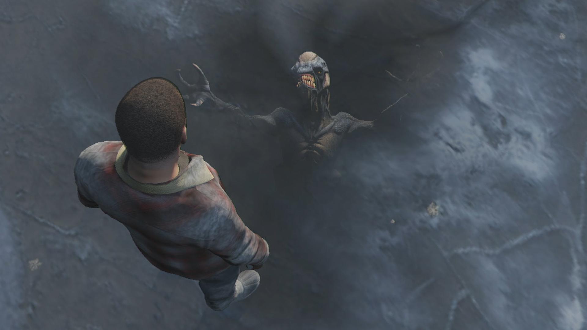 Alien frozen in the ice