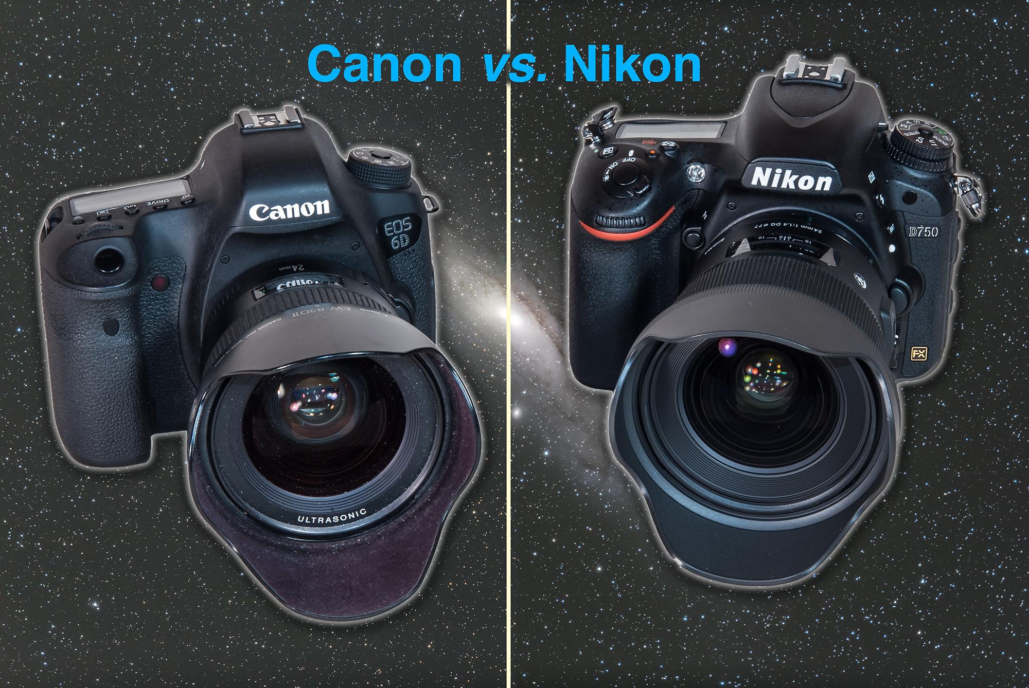 Canon vs Nikon comparison